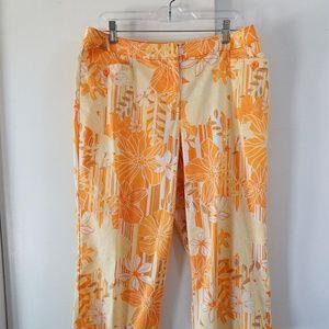 CHICOS capri pants cropped crop floral 2